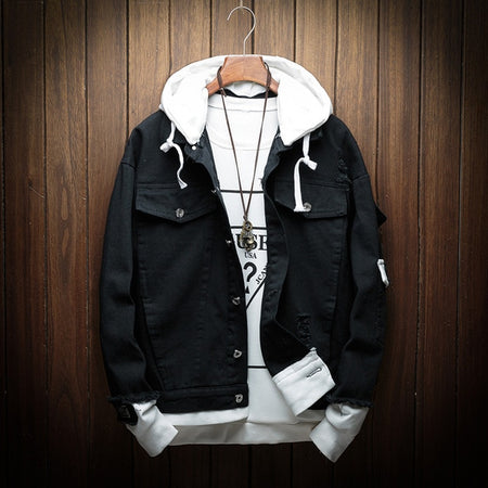 Louisiana Black Hooded Jacket
