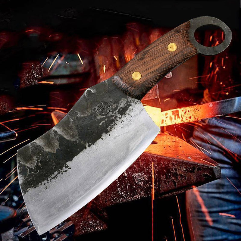 Handmade Chopping Meat Cleaver / Butcher Knife made from High Carbon Clad Steel