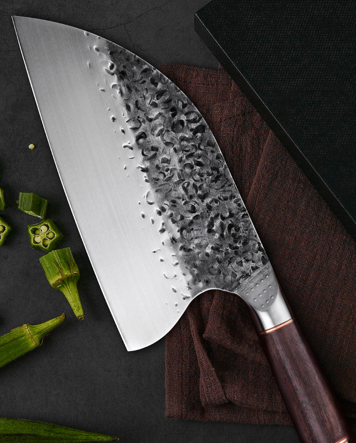 Serbian Special Offer Serbian Meat Cleaver with Ebony Handle and the Original Serbian Chefs Knife