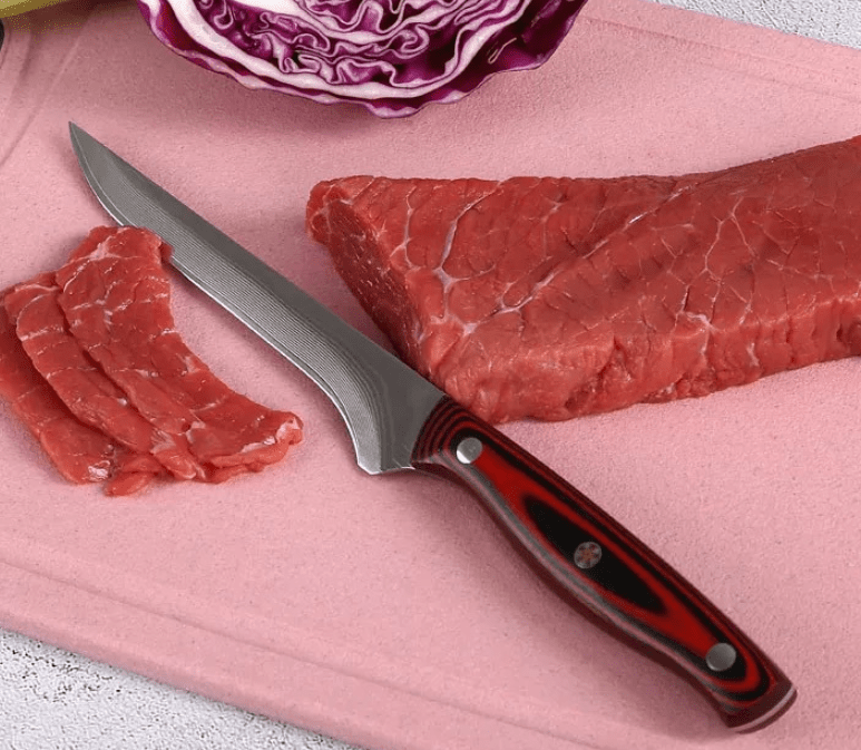 Hand Forged Damascus Utility Filleting Knife