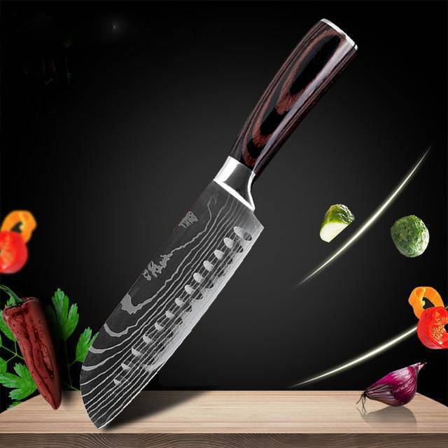 Professional Knife Set with Wooden Handle