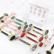 Beauties Bliss-12-types-Jade-Stone-Roller-Rose-Quartz-Natural-Crystal-Stone-Massager-For-Face-Lift-Up-Slimming-with box