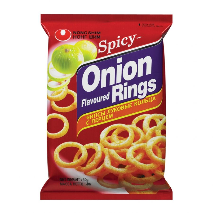 Nongshim Onion Rings - Hot & Spicy 40g <br> 農心辣洋蔥圈