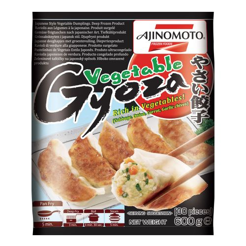 Ajinomoto Japanese Style Vegetable Gyoza 600g <br> Ajinomoto 日式蔬菜鍋貼