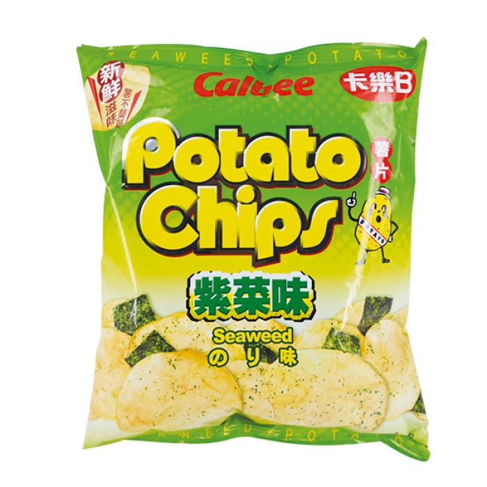 Calbee P/Chips - Seaweed Flavour 55g *** <br> 卡樂B薯片-紫菜味