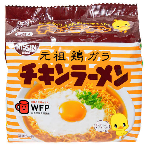 Nissin Chicken Ramen 425g 5packs <br> 日清元祖雞肉味拉麵