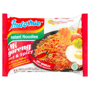 Indomie Mi Goreng Fried Noodles - Hot & Spicy 80g <br> 營多印尼炒麵 香辣