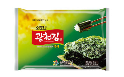 Kwangcheon Dosirak Seasoned Green Seaweed 15g (9Pack) <br> 廣川 即食紫菜