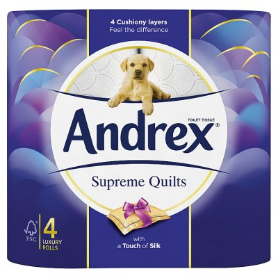 Andrex Supreme Quilts White (4 Pack) ***