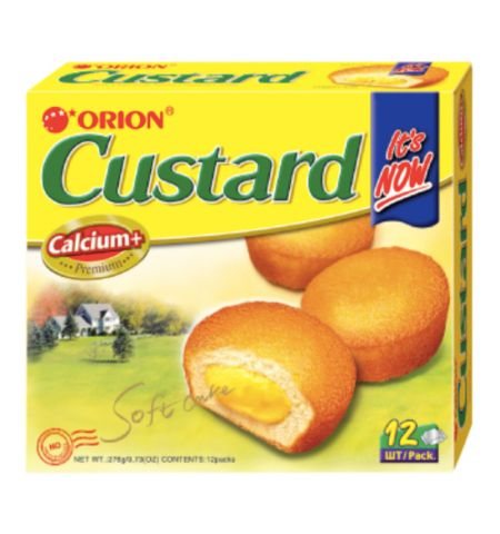 Orion Custard Pie 12 Pieces 276g <br> Orion 蛋黃派 12Pieces