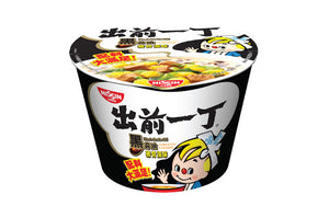 Nissin Instant Noodle with Soup Base Black Garlic Oil Tonkotsu Flavour 106g <br> 日清 出前一丁杯麵 黑蒜油豬骨湯味