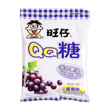 WW QQ Gummy Candy - Grape 20g *** <br> 旺旺 QQ糖-葡萄