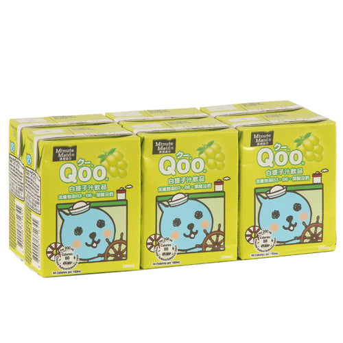 Minute Maid Qoo White Grape Fruit Juice 200ml (6 packs) *** <br> 美粒果酷兒白提子汁飲品
