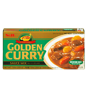 S&B Golden Curry Medium Hot 220g <br> S&B 金牌咖喱磚 中辛