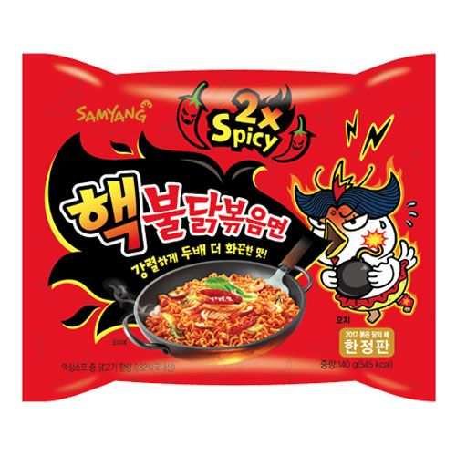 Samyang Double Spicy Hot Chicken Flavour Ramen 140g (5 Pack) <br> 三養 雙倍辣雞拉麵 5連包