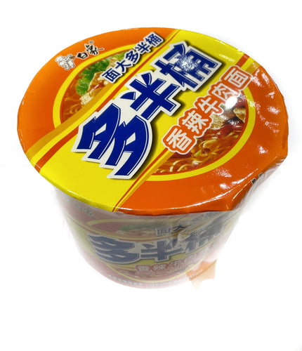 Bai Xiang Instant Noodles Bowl Noodle (Spicy Beef) 139g <br> 白象方便麵碗裝-香辣牛肉