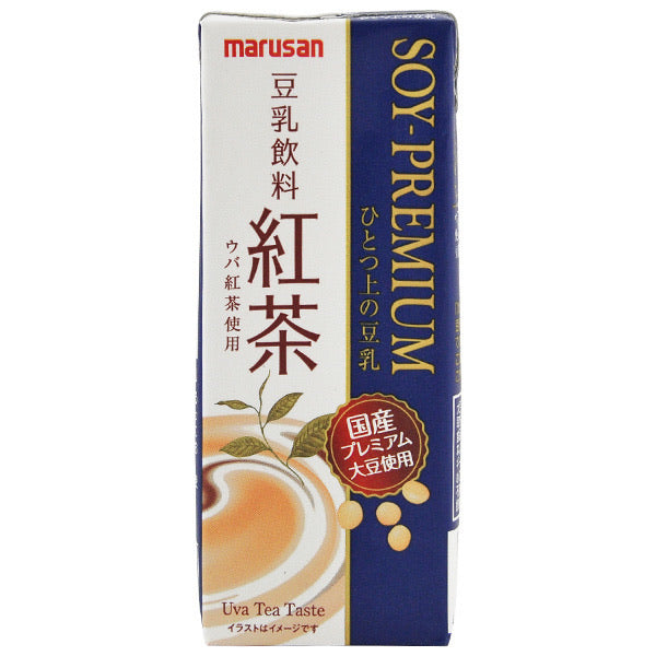 Marusan Black Tea Premium Soy Milk Drink 200ml <br> Marusan 紅茶豆乳飲料
