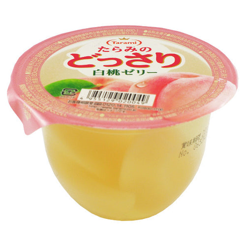 Tarami Dossari Fruit Jelly with White Peach Chunks 230g *** <br> Tarami 白桃味果肉果凍