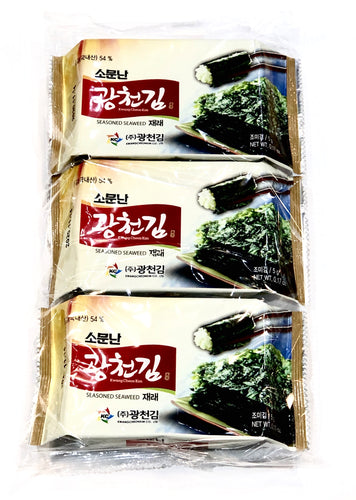 Kwangcheon Dosirak Seasoned Seaweed 15g (3Pack) <br> 廣川 即食紫菜