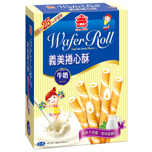 IMEI Wafer Roll - Milk 75g <br> 義美 牛奶卷心酥