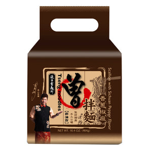 Tseng Noodles - Scallion with Sichuan Pepper Flavor 4packs 464g <br> 曾拌麵 - 香蔥椒麻 4包裝