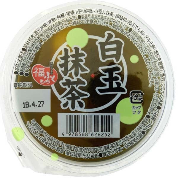 Marushin Matcha Jelly with Shiratama Dango and Adzuki Beans 140g *** <br> Marushin 紅豆白玉抹茶果凍