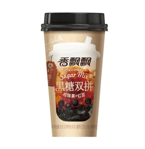 Xiang Piao Piao Boba Tea (Black Sugar Mix) 90g <br> 香飄飄黑糖雙拼奶茶
