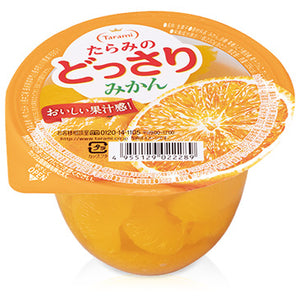 Tarami Dossari Fruit Jelly with Mikan Orange Chunks 230g *** <br> Tarami 橙味果肉果凍