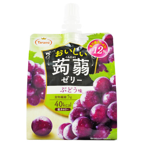Tarami Grape Flavoured Konjac Jelly Drink 150g *** <br> Tarami 美味蒟蒻果凍飲品 葡萄味