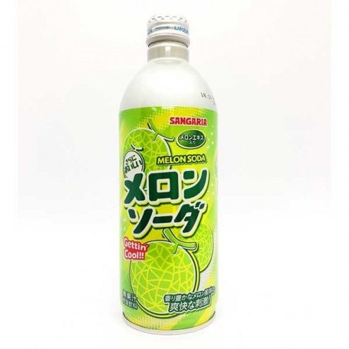 Sangaria Ramu Bottle Melon Soda 500ml *** <br> Sangaria蜜瓜味蘇打汽水