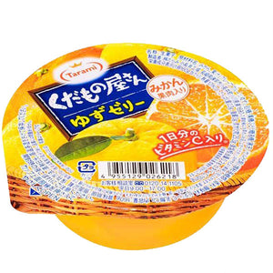 Tarami Yuzu Flavoured Jelly Dessert with Satsuma Orange Pieces 160g *** <br> Tarami 粒粒橙䄂子啫喱
