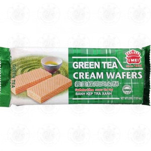 I-MEI Green Tea Cream Wafer 200g <br> 義美 綠茶夾心酥