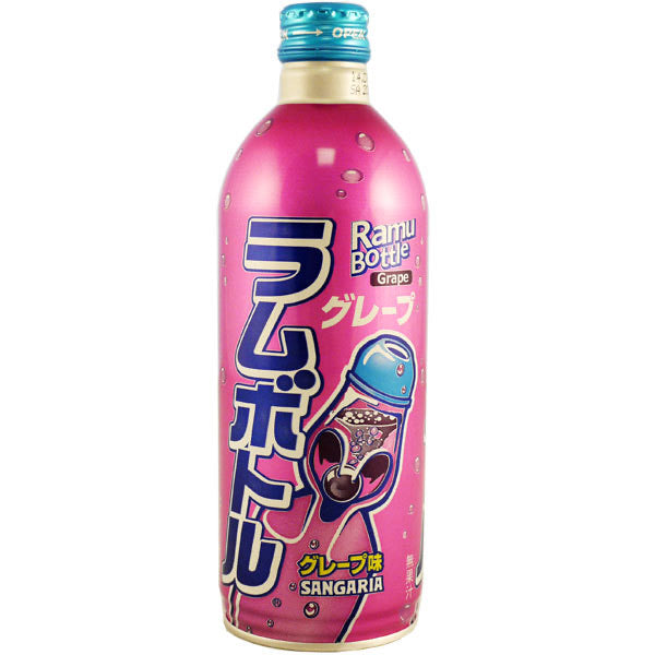 Sangaria Ramu Bottle Grape Soda 500ml *** <br> 三佳利葡萄味蘇打汽水