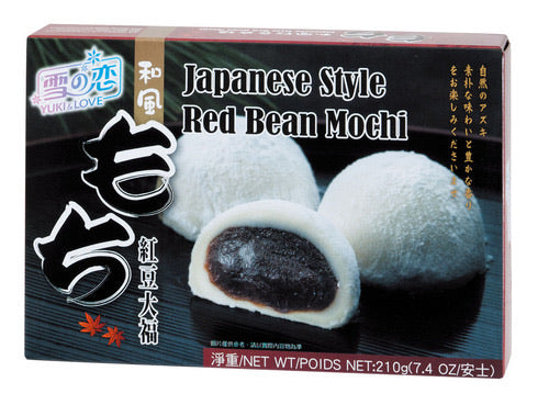 Yuki & Love Mochi-Red Bean 210g <br> 雪之戀 和風大福