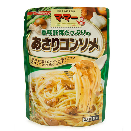 Nissin Ma Maa Asari Clam Consomme Pasta Sauce 260g <br> 日清 花蛤清湯意粉醬