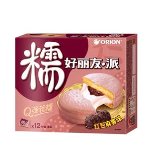 Orion Pie - Red Bean Mochi Flavour 12pieces 336g *** <br> 好麗友·派 - 紅豆麻薯味