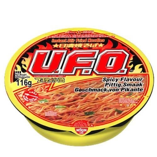 Nissin UFO - Yakisoba Noodles Spicy Flavour 116g <br> 日清UFO飛碟 - 香辣風味