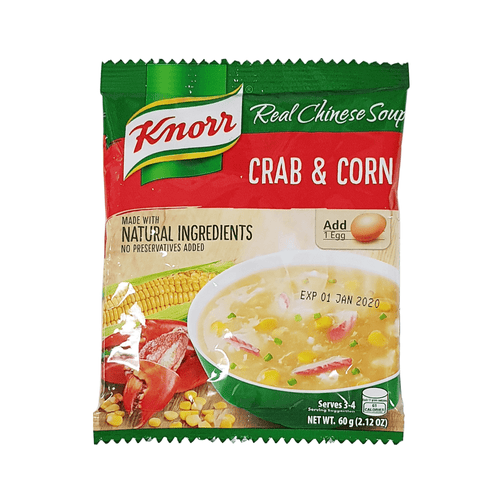 Knorr Crab & Sweetcorn Soup Mix 60g <br> 家樂牌 蟹肉玉米湯包
