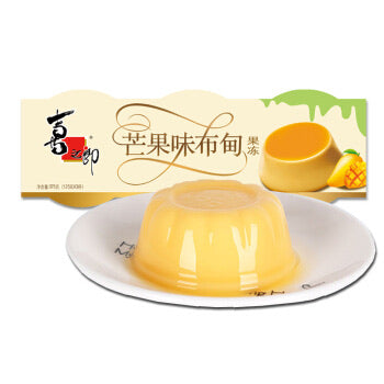 ST Jelly - Mango Flavor 3 cups 375g *** <br> 喜之郎布甸果凍芒果味 3小杯
