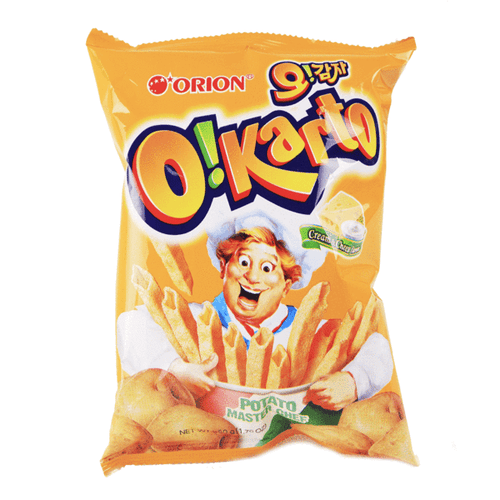 Orion O! Karto Cream & Cheese Flavor 50g <br> Orion 空心薯條 芝士奶油味