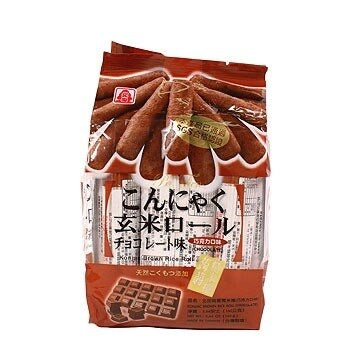 Pei Tien Konjac Brown Rice Roll - Chocolate 160g <br> 北田蒟蒻糙米捲-巧克力