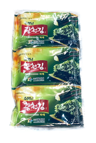 Kwangcheon Dosirak Seasoned Green Seaweed 15g (3Pack) <br> 廣川 即食紫菜
