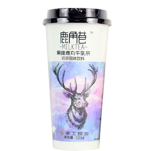 The Alley Milk Tea - Black Sugar Flavour 123g <br> 鹿角巷奶茶 - 黑糖鹿丸牛乳茶