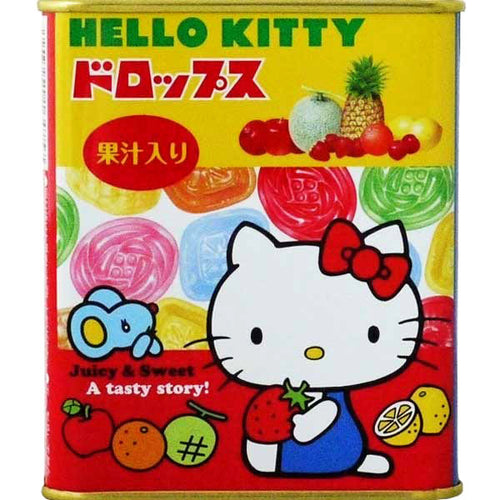 Sakuma Hello Kitty Fruit Drops in a Tin 75g *** <br> Sakuma Hello Kitty 鐵罐果汁糖