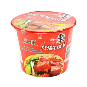 Unif Bowl Instant Noodles-Artificial Roasted Beef Flavor 110g <br> 統一紅燒牛肉麵
