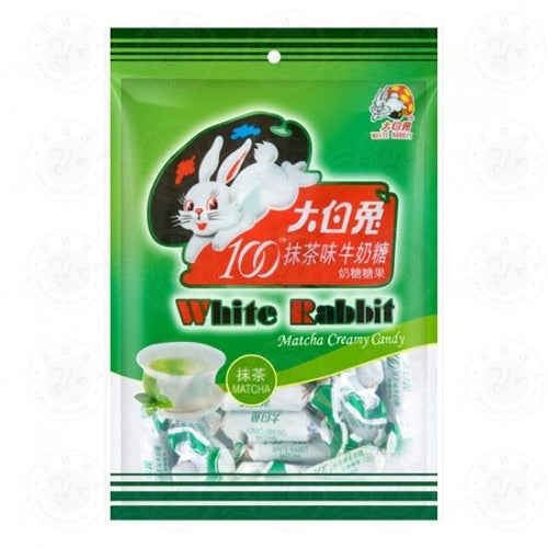 White Rabbit Matcha Creamy Candy 150g *** <br> 大白兔抹茶奶糖