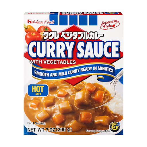 House Foods Curry Sauce with Vegetables Hot 200g <br> House Foods 日式即食方便咖哩包 辛口
