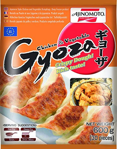 Ajinomoto Japanese Style Chicken & Vegetable Gyoza 600g <br> Ajinomoto 日式雞肉蔬菜鍋貼