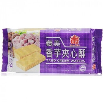 IMEI Taro Cream Wafers 152g <br> 義美 香芋夾心酥