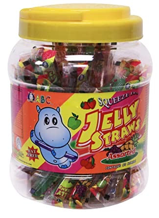 ABC Jelly Straws 1000g <br> ABC果凍條